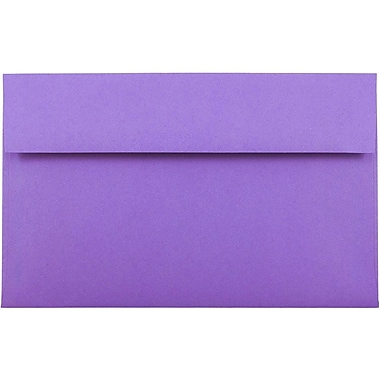 JAM Paper® A10 Invitation Envelopes, 6 x 9.5, Brite Hue Violet Purple Recycled, 25/pack (28036)