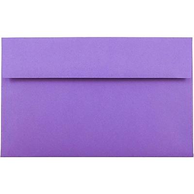 JAM Paper® A10 Invitation Envelopes, 6 x 9.5, Brite Hue Violet Purple Recycled, 50/pack (28036I)
