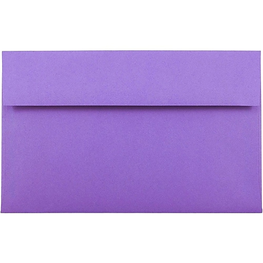 JAM Paper® A10 Colored Invitation Envelopes, 6 x 9.5, Violet Purple Recycled, 50/Pack (28036I)