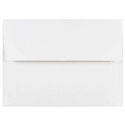 JAM Paper® A6 Invitation Envelopes, 4.75 x 6.5, White, 500/box (31820D)