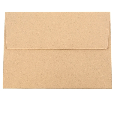 JAM Paper® A7 Invitation Envelopes, 5.25 x 7.25, Ginger Brown Recycled, 25/pack (34856)