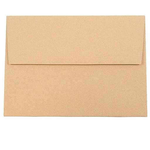 JAM Paper® A7 Passport Invitation Envelopes, 5.25 x 7.25, Ginger Brown Recycled, Bulk 250/Box (34856H)