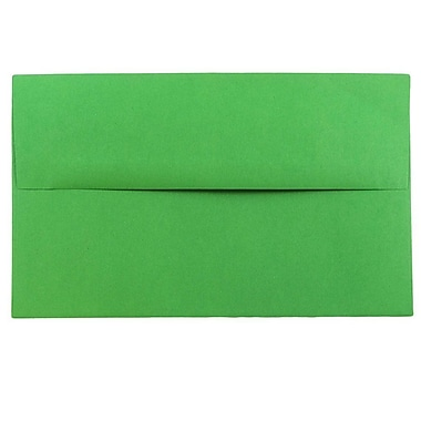 JAM Paper® A10 Invitation Envelopes, 6 x 9.5, Brite Hue Green Recycled, 1000/carton (35633B)