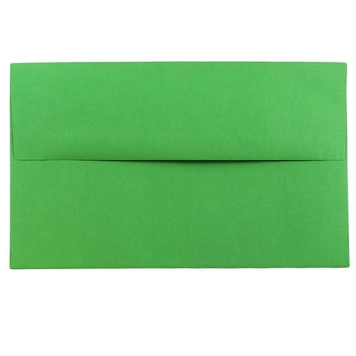 JAM Paper® A10 Colored Invitation Envelopes, 6 x 9.5, Green Recycled, 25/Pack (35633)