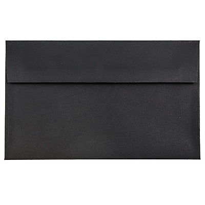 JAM Paper® A9 Invitation Envelopes, 5.75 x 8.75, Black Linen Recycled, 25/pack (900906807)