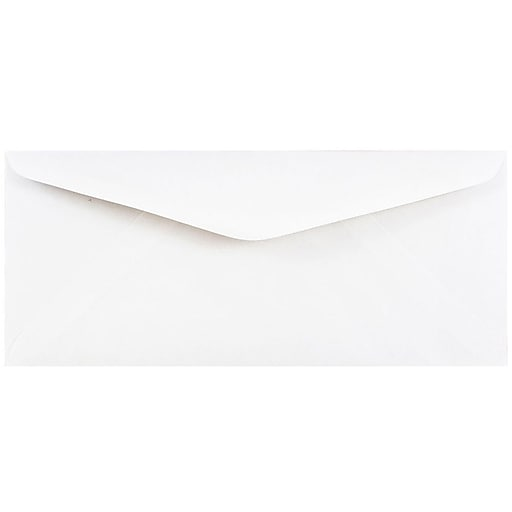 JAM Paper® #11 Business Commercial Envelopes, 4.5 x 10.375, White, Bulk 500/Box (45179H)
