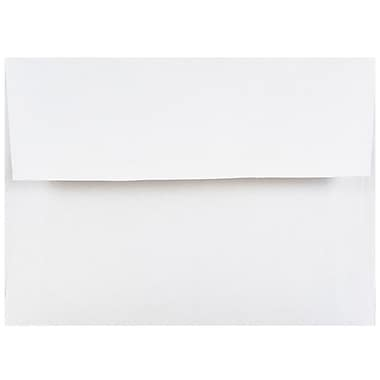 JAM PaperMD – Enveloppes d'invitations A2, no 4, 3/8 x 5 3/4 po, blanc, 100/paquet
