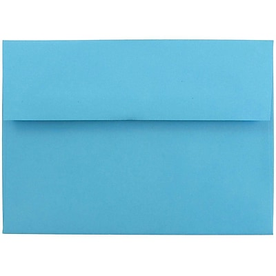 JAM Paper® A7 Invitation Envelopes, 5.25 x 7.25, Brite Hue Blue, 250/box (54093H)
