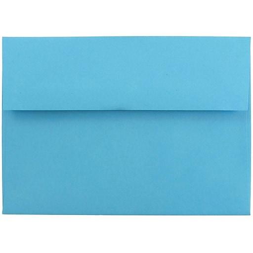 JAM Paper® A7 Colored Invitation Envelopes, 5.25 x 7.25, Blue Recycled, Bulk 1000/Carton (54093B)