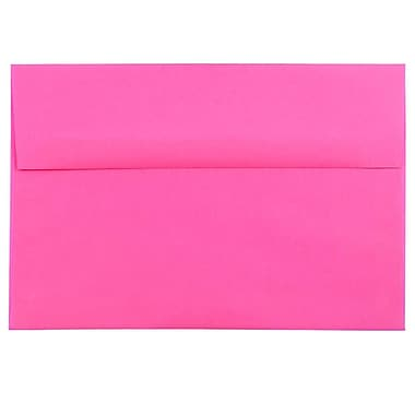 JAM Paper® A8 Invitation Envelopes, 5.5 x 8.125, Brite Hue Ultra Fuchsia Pink, 25/pack (58447)
