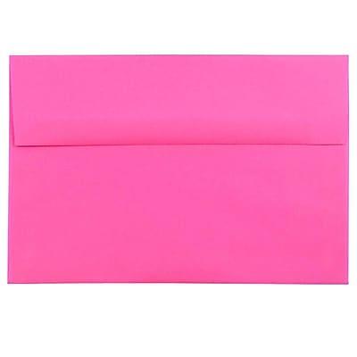 JAM Paper® A8 Invitation Envelopes, 5.5 x 8.125, Brite Hue Ultra Fuchsia Pink, 50/pack (58447I)