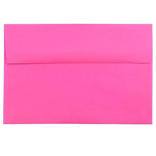JAM Paper® A8 Colored Invitation Envelopes, 5.5 x 8.125, Ultra Fuchsia Pink, 50/Pack (58447I)