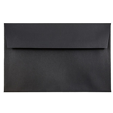 JAM Paper® A8 Invitation Envelopes, 5.5 x 8.125, Black Linen Recycled, 25/pack (64931)