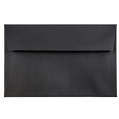 JAM Paper® A8 Invitation Envelopes, 5.5 x 8.125, Black Linen Recycled , 50/pack (64931I)