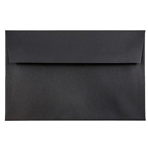 JAM Paper® A8 Invitation Envelopes, 5.5 x 8.125, Black Linen, Bulk 250/Box (64931H)