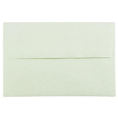 JAM Paper® A8 Invitation Envelopes, 5.5 x 8.125, Parchment Green Recycled, 50/pack (66053I)