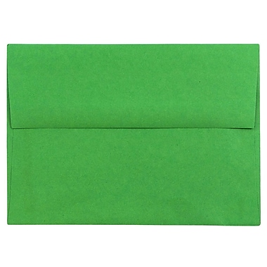 JAM Paper® A6 Invitation Envelopes, 4.75 x 6.5, Brite Hue Green Recycled, 25/pack (67195)