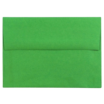 JAM Paper® A6 Invitation Envelopes, 4.75 x 6.5, Brite Hue Green Recycled, 50/pack (67195I)