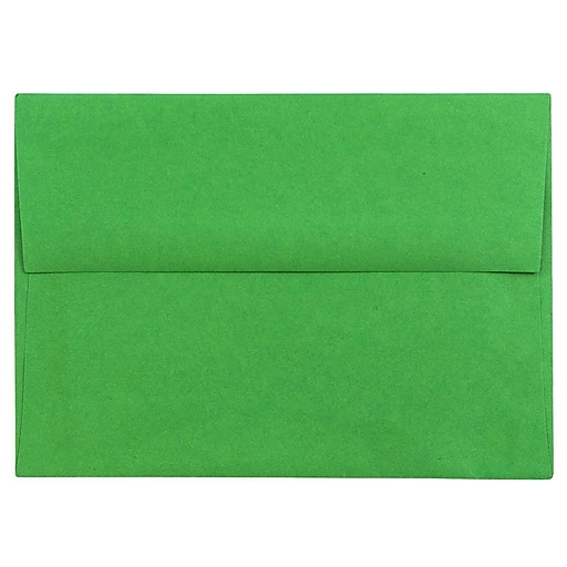 JAM Paper® A6 Colored Invitation Envelopes, 4.75 x 6.5, Green Recycled, 50/Pack (67195I)
