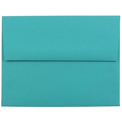 JAM Paper® A2 Invitation Envelopes, 4 3/8 x 5 3/4, Brite Hue Sea Blue Recycled, 250/box (70207H)