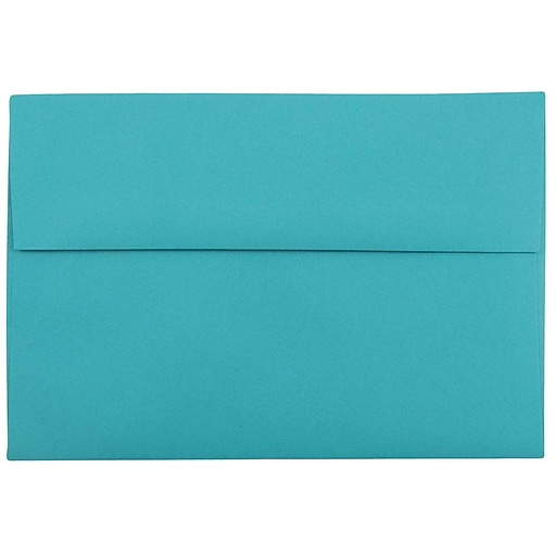 JAM Paper® A8 Colored Invitation Envelopes, 5.5 x 8.125, Sea Blue Recycled, 50/Pack (70231I)