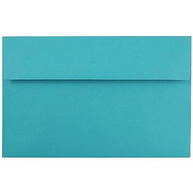 JAM Paper® A10 Invitation Envelopes, 6 x 9.5, Brite Hue Sea Blue Recycled, 50/pack (70249I)