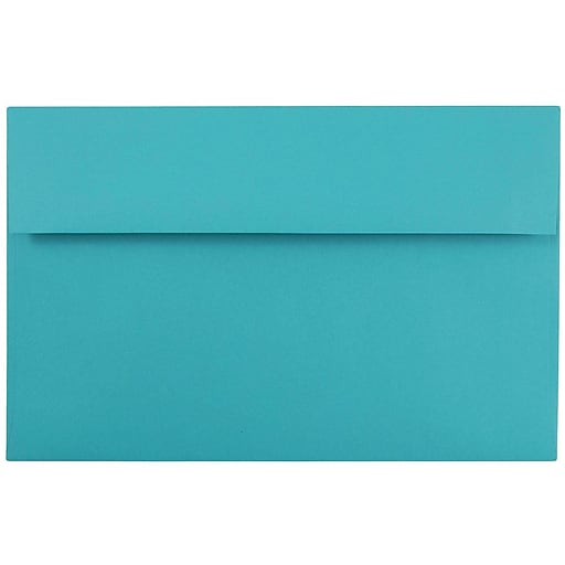 JAM Paper® A10 Colored Invitation Envelopes, 6 x 9.5, Sea Blue Recycled, 25/Pack (70249)