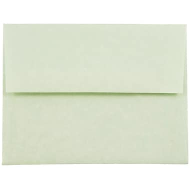 JAM Paper® A2 Invitation Envelopes, 4 3/8 x 5 3/4, Parchment Green Recycled, 25/pack (75066)