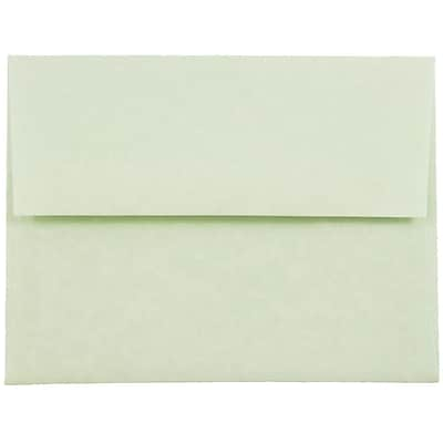 JAM Paper® A2 Invitation Envelopes, 4 3/8 x 5 3/4, Parchment Green Recycled, 50/pack (75066I)