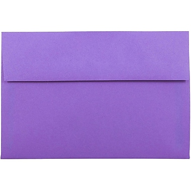 JAM Paper® A8 Invitation Envelopes, 5.5 x 8.125, Brite Hue Violet Purple Recycled, 25/pack (80286)