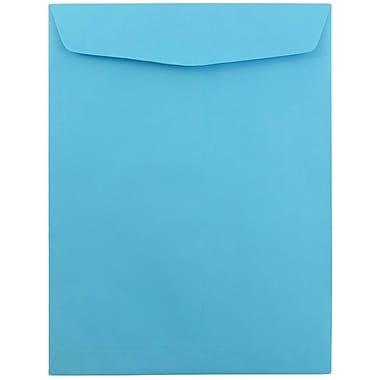 JAM Paper® 9 x 12 Open End Catalog Envelopes, Brite Hue Blue Recycled, 100/pack (80386)