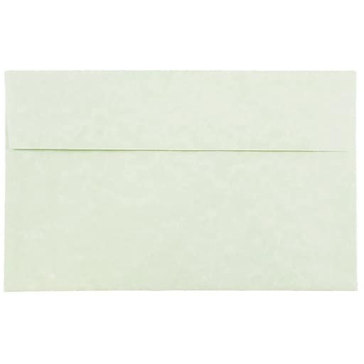 JAM Paper® A10 Parchment Invitation Envelopes, 6 x 9.5, Green Recycled, 50/Pack (82143I)