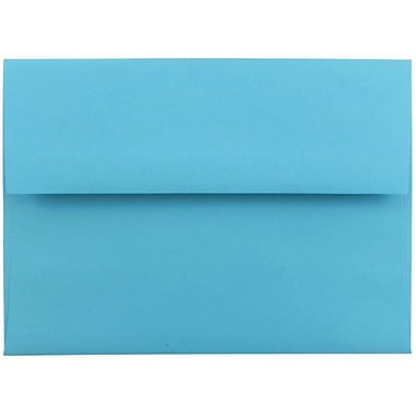 JAM Paper® A6 Invitation Envelopes, 4.75 x 6.5, Brite Hue Blue Recycled, 25/pack (94523)