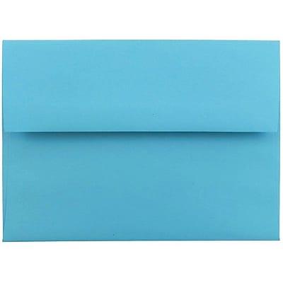 JAM Paper® A6 Invitation Envelopes, 4.75 x 6.5, Brite Hue Blue Recycled, 50/pack (94523I)