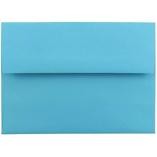 JAM Paper® A6 Colored Invitation Envelopes, 4.75 x 6.5, Blue Recycled, 50/Pack (94523I)