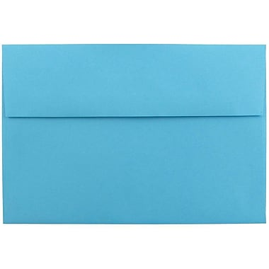 JAM Paper® A8 Invitation Envelopes, 5.5 x 8.125, Brite Hue Blue Recycled, 1000/carton (95435B)