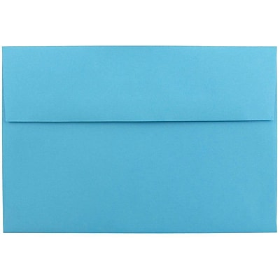 JAM Paper® A8 Invitation Envelopes, 5.5 x 8.125, Brite Hue Blue Recycled, 25/pack (95435)