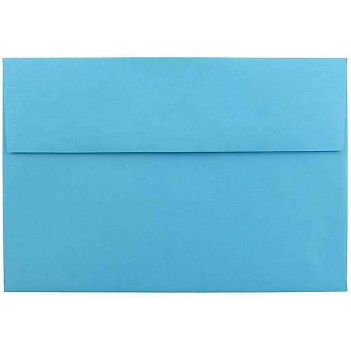 JAM Paper® A8 Colored Invitation Envelopes, 5.5 x 8.125, Blue Recycled, Bulk 1000/Carton (95435B)