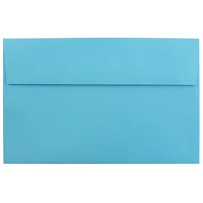 JAM Paper® A10 Invitation Envelopes, 6 x 9.5, Brite Hue Blue Recycled, 250/box (95443H)
