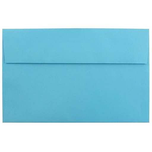 JAM Paper® A10 Colored Invitation Envelopes, 6 x 9.5, Blue Recycled, 25/Pack (95443)