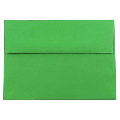 JAM Paper® A8 Invitation Envelopes, 5.5 x 8.125, Brite Hue Green Recycled, 50/pack (95625I)