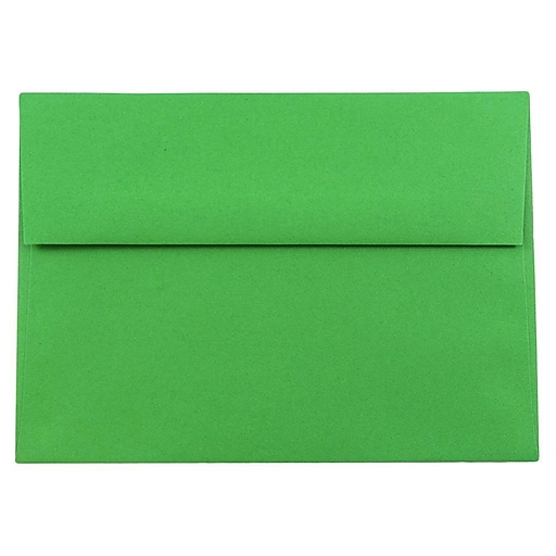JAM Paper® A8 Colored Invitation Envelopes, 5.5 x 8.125, Green Recycled, Bulk 250/Box (95625H)