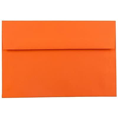 JAM Paper® A7 Invitation Envelopes, 5.25 x 7.25, Brite Hue Orange Recycled, 50/pack (95666I)