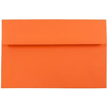 JAM Paper® A8 Invitation Envelopes, 5.5 x 8.125, Brite Hue Orange Recycled, 1000/carton (95740B)