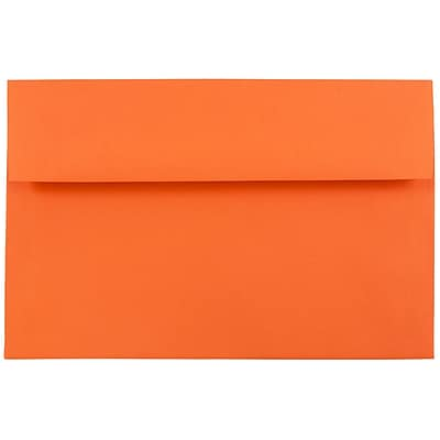 JAM Paper® A8 Invitation Envelopes, 5.5 x 8.125, Brite Hue Orange Recycled, 250/box (95740H)