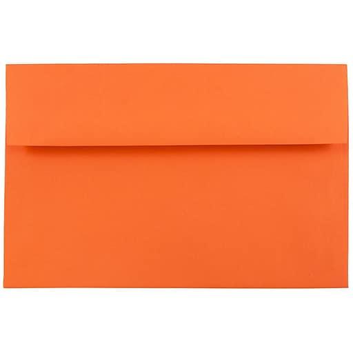 JAM Paper® A8 Colored Invitation Envelopes, 5.5 x 8.125, Orange Recycled, Bulk 250/Box (95740H)