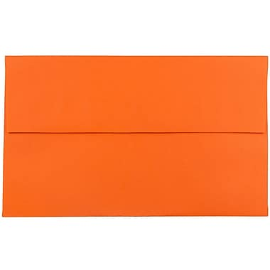 JAM Paper® A10 Invitation Envelopes, 6 x 9.5, Brite Hue Orange Recycled, 1000/carton (95922B)