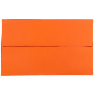 JAM Paper® A10 Invitation Envelopes, 6 x 9.5, Brite Hue Orange Recycled, 1000/carton (95922B)