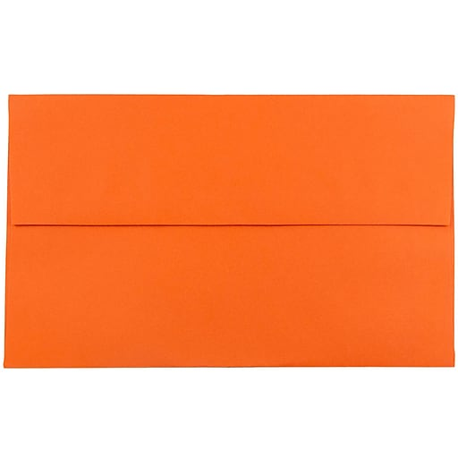 JAM Paper® A10 Colored Invitation Envelopes, 6 x 9.5, Orange Recycled, 50/Pack (95922I)