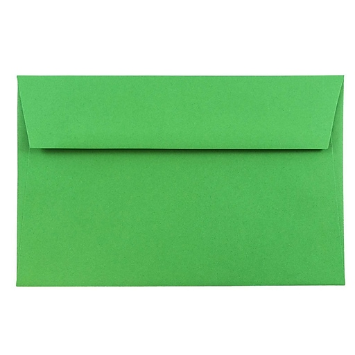 JAM Paper® A9 Colored Invitation Envelopes, 5.75 x 8.75, Green Recycled, Bulk 250/Box (98176H)
